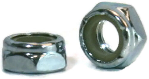 "1//4/""-20 UNC Nylon Insert Jam Nut Zinc Plated Grade A Steel Hex Nuts Qty-1000"