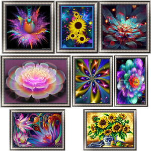 Fashion-Flower-DIY-5D-Diamond-Painting-Embroidery-Cross-Stitch-Home-Decor-Craft