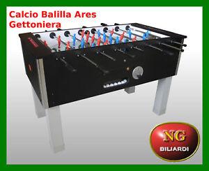 Calcio-Balilla-ARES-gettoniera-CALCETTO-CON-GETTONIERA-BILIARDINO-NUOVO