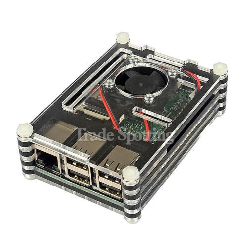 SainSmart Black Slices Case with Cooling Fan for Raspberry Pi 3 Model B
