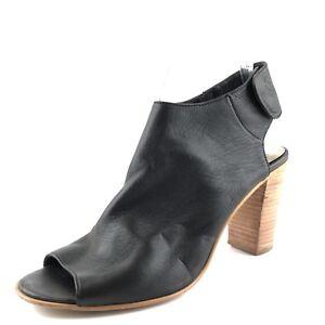 4767453f3da Image is loading Steve-Madden-Nonstp-Black-Leather-Slingback-Ankle-Boots-