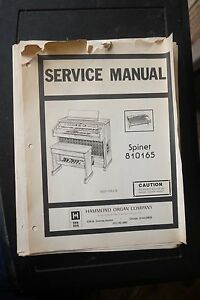 Details about Hammond Organ Spinet 810165 Service Manual and Wiring on