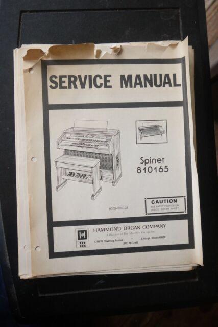 hammond organ spinet 810165 service manual and wiring diagram ebay rh ebay com Hammond Organ Models Hammond Organ Models