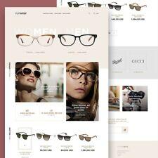 Glasses Shop Website For Sale Onlinebusiness Dropshipping Free Hosting