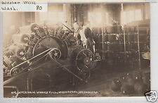 RPPC - Washougal, Washington - Interior of Woolen Mill - early 1900s