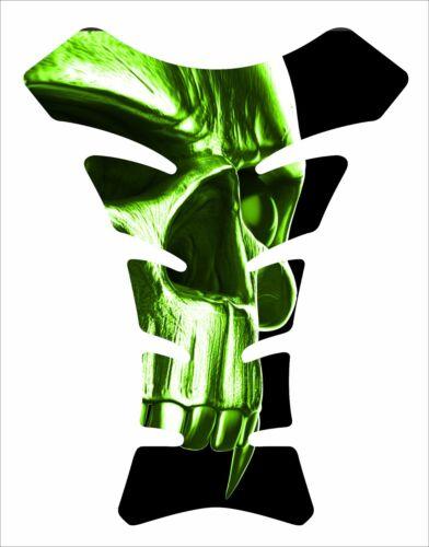 Skull Vampire Green 3D Gel pad Motorcycle Gas Tank Pad Guard Protector Sticker