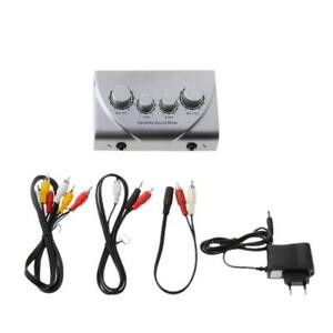 Karaoke-Echo-Mixer-Son-Pre-Amplificateur-Audio-Stereo-Microphone-Adaptateur