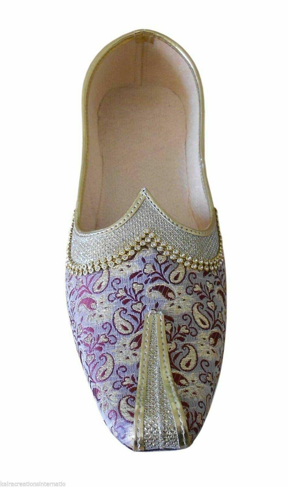 Men shoes Traditional Jutti Multi-color Khussa Loafers & Slip Ons Mojari US 7