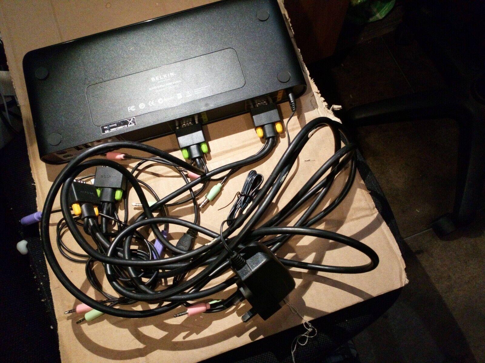 Belkin SOHO F1DS102J 2-Port VGA & Audio KVM Switch