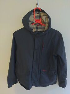 Kids-Boys-Barbour-Classic-Jacket-Coat-Waterproof-And-Breathable-L-10-11-Blue