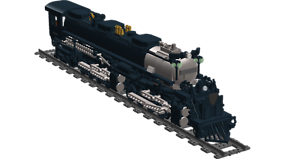 Lego Custom Instruction Train instruction only