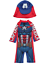 Swimsuit and Hat Age 5-6 New Marvel Comics Captain America Sun Protection UV40