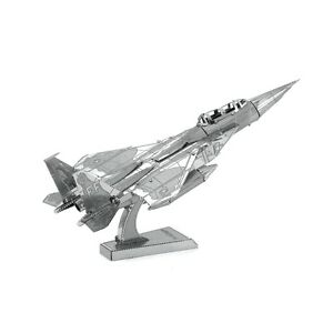 Metal-Earth-F-15-Eagle-3D-Laser-Cut-Metal-DIY-Model-Hobby-Aircraft-Build-Kit
