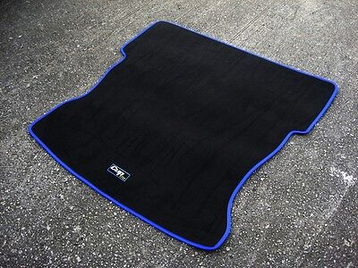 Boot Mat + Cup 182 Logos Car Mats in Black to fit Renault Clio Mk2 1998-2005