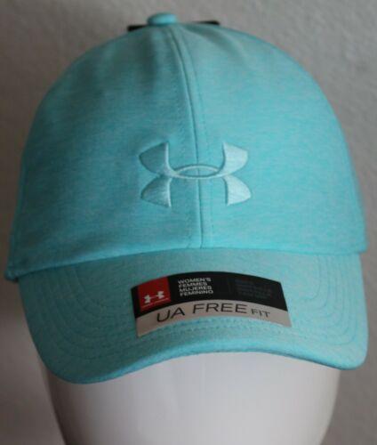 Under Armour Womens Hat Renegade Twist Heatgear Teal One Size Adjustable Cap