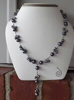 Honora Sterling Silver Cultured Freshwater Pearl Necklace 17 L Qvc Peacock
