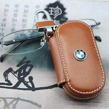 Funda CUERO BMW clave titular anillo cadena FOB marrón pequeña!
