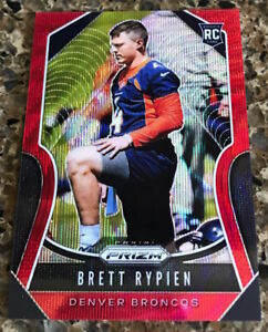 2018-PANINI-PRISM-BRETT-RYPIEN-RC-RED-WAVE-PRISM-SN-022-149-NO-374-DENVER-RC