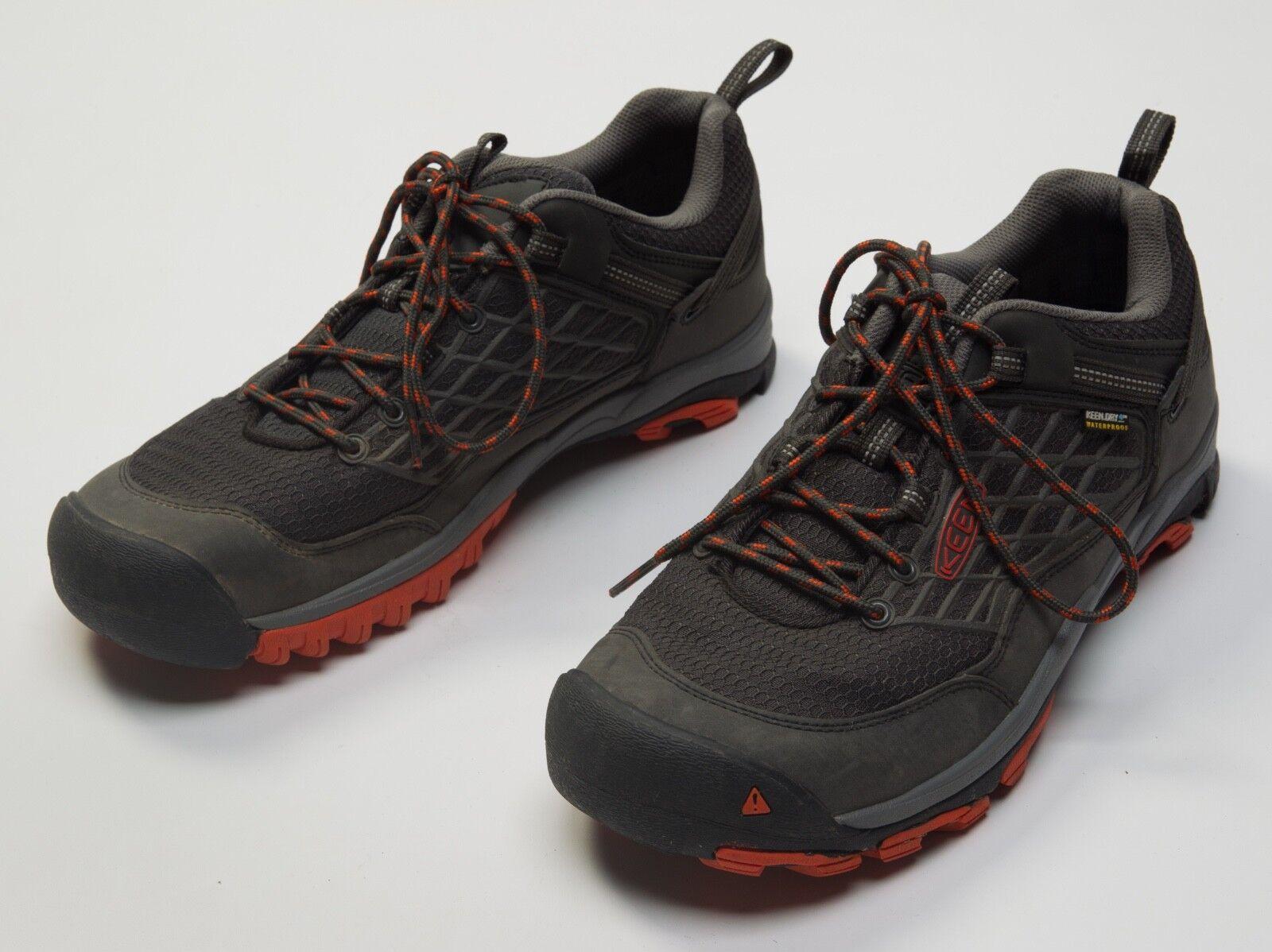 Men's KEEN Saltzman Raven Koi Low WP Waterproof Hiking shoes Size Sz US 10 US10