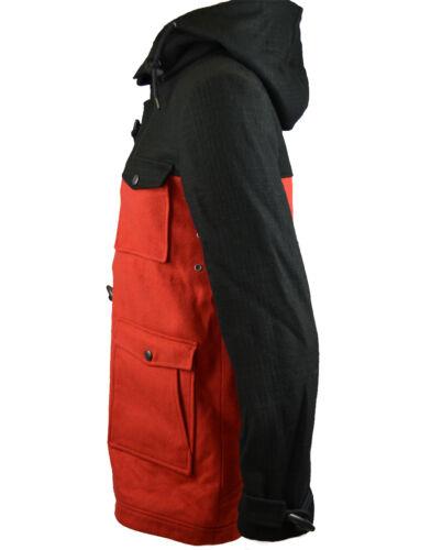 rouge Coat Eleven Capuche À Noir epjk025 Paris Homme Duffle wa7v7ZqP