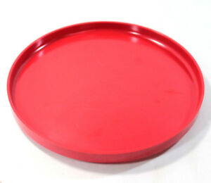 Vintage Heller Design By Massimo Vignelli Red Stacking Dinner Plate