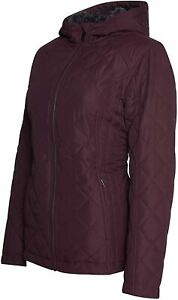 HFX womens Quilted Cozy Sherpa Lined Jacket