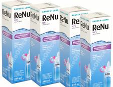 4 x 240ml Bausch & Lomb ReNu Multi-purpose Contact Eye Lens Solution Cleaner