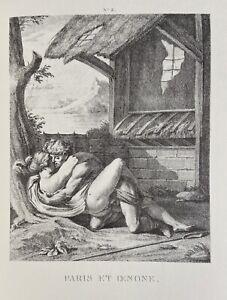 Agostino Carracci Erotico Pene atto vagina Parigi oinone Ninfa mitologia antica
