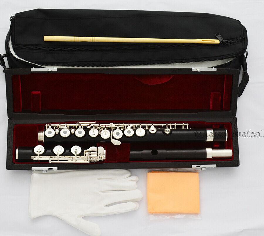 Excellent Pro Ebony Wooden 17 Open Holes Flute C Key B Foot Split E Offset G NEU