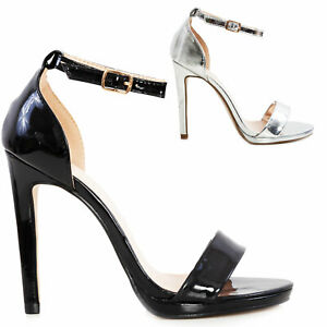 Sandali donna scarpe cinturino lucide eleganti tacchi alti TOOCOOL S1656