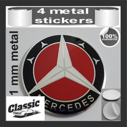 METAL STICKERS WHEELS CENTER CAPS CLASSIC Centro LLantas 4pcs MERCEDES 17