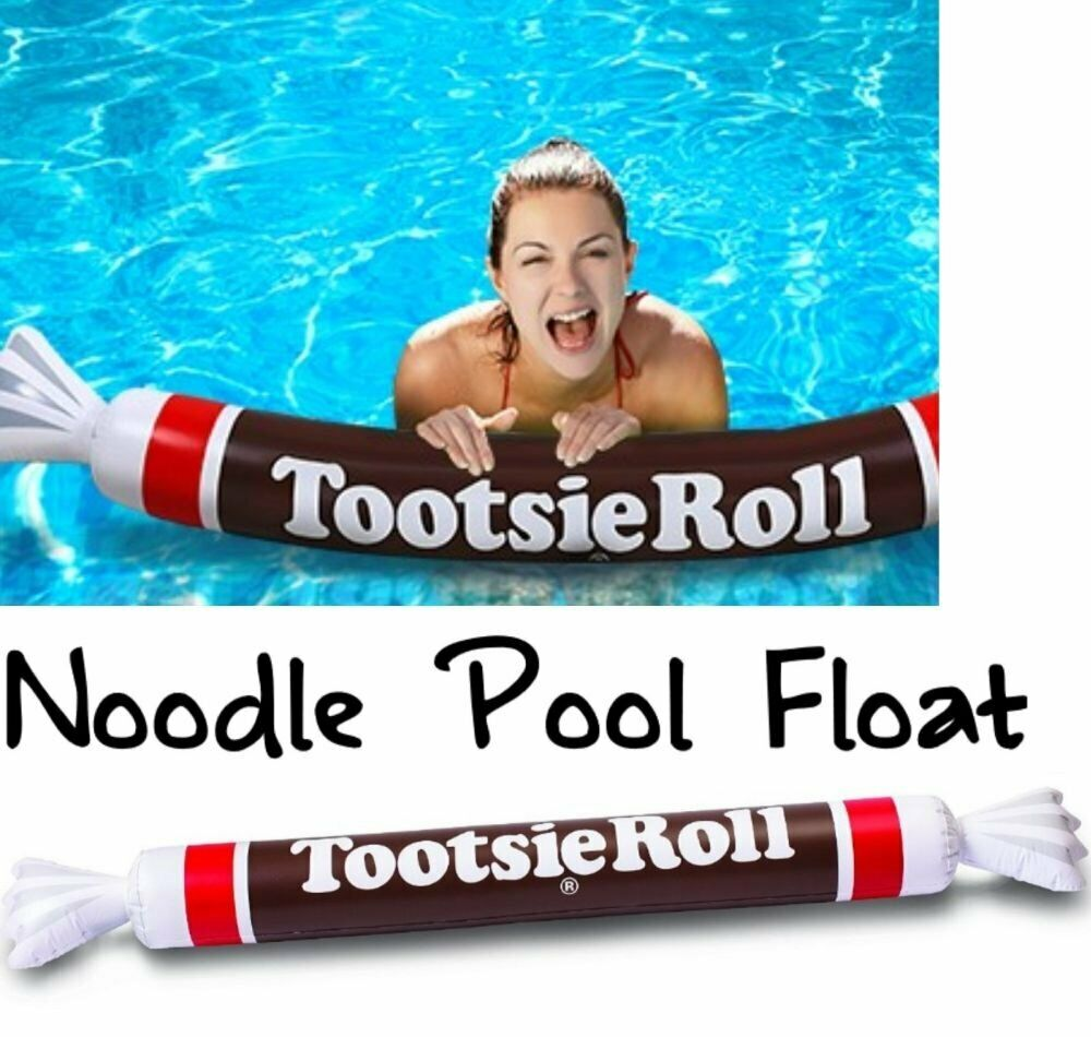 Tootsie Roll Inflatable Swimming Pool Noodle Float ~ Big Mouth Toys - OVER 5 FT