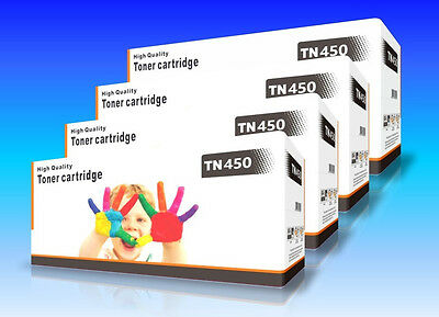 4 PK TN-450 TN450 Toner Cartridge for Brother HL-2240 2270 DCP-7060 7065DN 7360