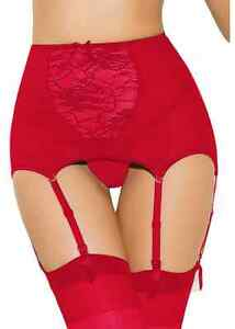 RED Mesh High waist Lace Garter Belt (M- XL -XXXXL ) ~#4 | eBay