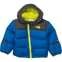 The North Face Nuptse Down Jacket Infant Boys Winter Coat Hoodie 0-3 Months Blue