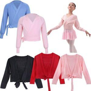 2e2d74a5d Image is loading Kids-Girls-Ballet-Dance-Cardigan-Top-Wrap-Sweaters-
