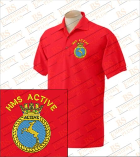 HMS ACTIVE Bestickte Polo Shirts