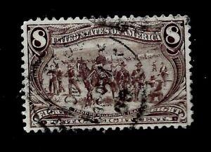 US-1898-SC-289-8-c-Trans-Mississippi-Used-Light-Cancel-Crisp-Color