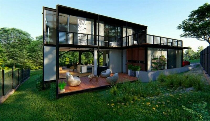 Contemporary off-grid lifestyle…