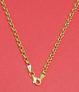 Damen-amp-Herren-Erbsen-Kette-Halskette-916-Gold-22-Kt-47-amp-52-amp-57-amp-63-cm-Lang