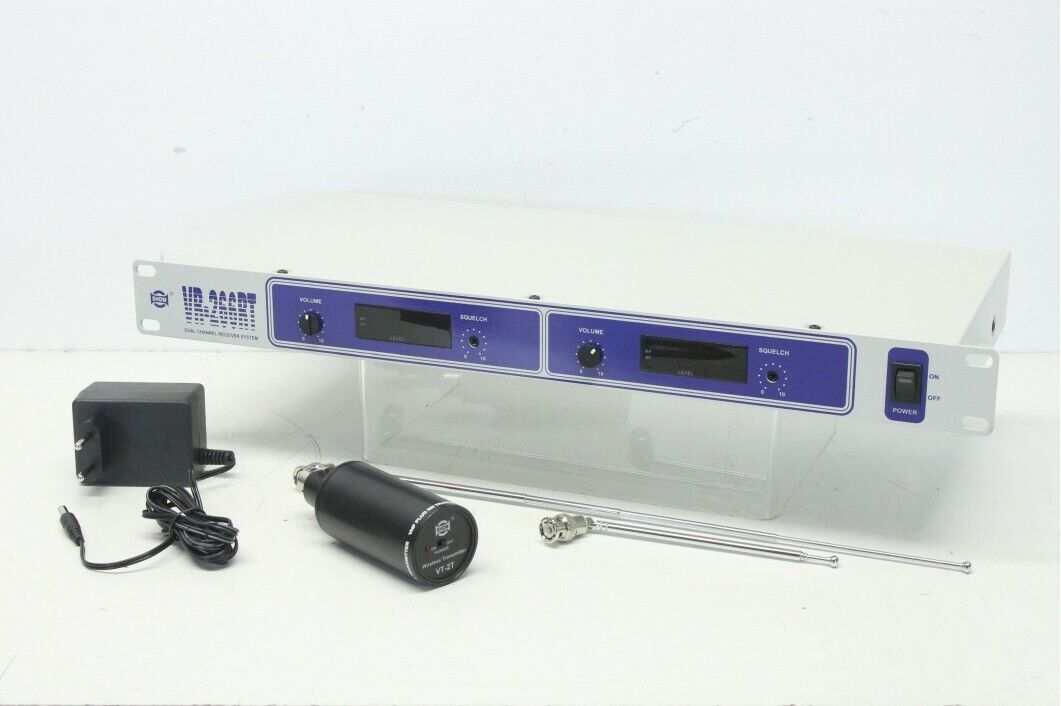Show VR-266RT - Dual Channel Receiver with VT-2T Wireless Transmitter