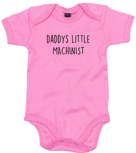 MACHINIST BODY SUIT PERSONALISED DADDYS LITTLE BABY GROW GIFT