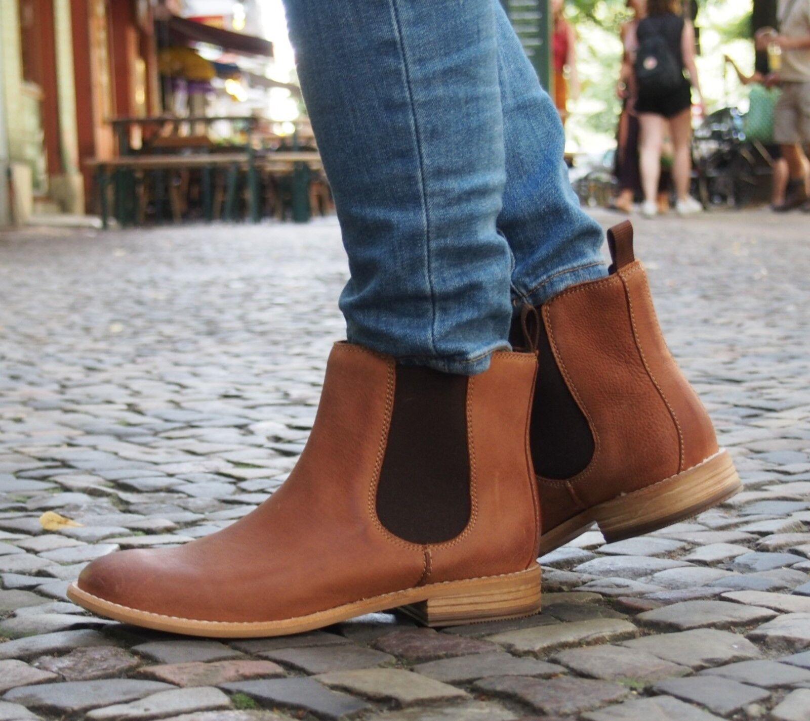 Clarks Schuh MAYPEARL NALA dark tan braun DamenBoot Stiefelette Chelsea Boot NEU
