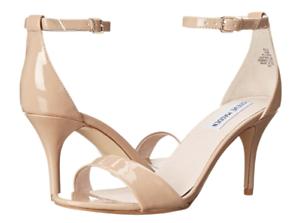 Steve Madden Sillly bluesh Patent Womens Ankle Strap Sandals Sz 7.5W 1252
