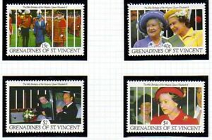 St-VINCENT-GRENADINES-1991-QUEEN-65th-BIRTHDAY-SET-OF-ALL-4-COMMEMORATIVES-MNH