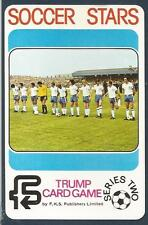 FKS 1977/78 SOCCER STARS-TRUMP CARD-SERIES 2-ENGLAND LINE-UP