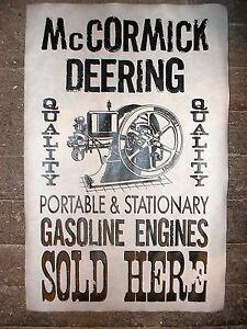 "290 NOVELTY POSTER HIT /& MISS GAS ENGINE INTERNATIONAL HARVESTER SALES 11""x17"""