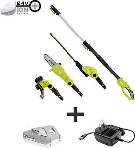 Cordless-Landscaping-Tools-Hedge-Trimmer-Pole-Saw-Grass-Trimmer-Battery-Pack-Set