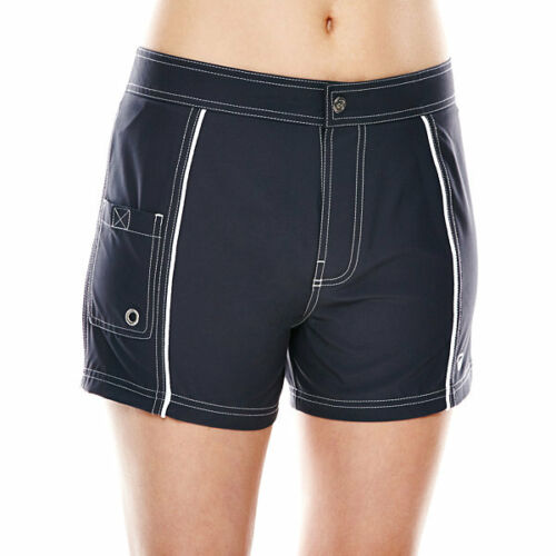 Free Country Woven Stretch Swim Shorts Steel Size S New Msrp $46.00