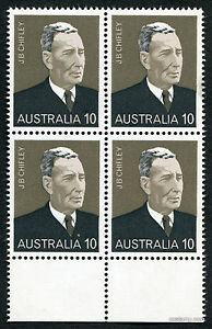 Image Is Loading 1975 Prime Minister J B Chifley Selvedge Block Of